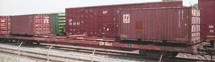 контейнер и вагон